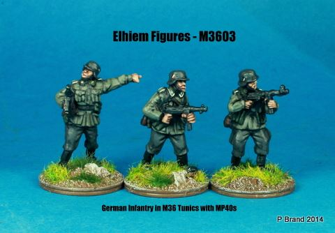 M3603 German Infantry in M36 uniform NCOs with MP40s skirmishing