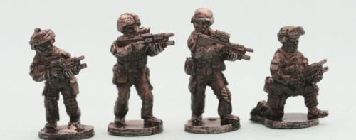 AUS02 Modern Australian F88 riflemen with Grenade Launchers