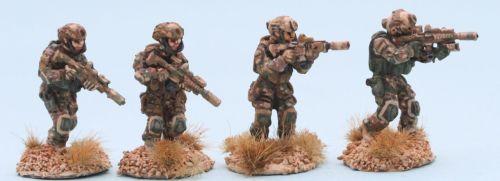 SF08 US SEAL DEVGRU team with carbines