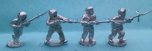 RAWL08 Snowsuit riflemen advancing skirmishing