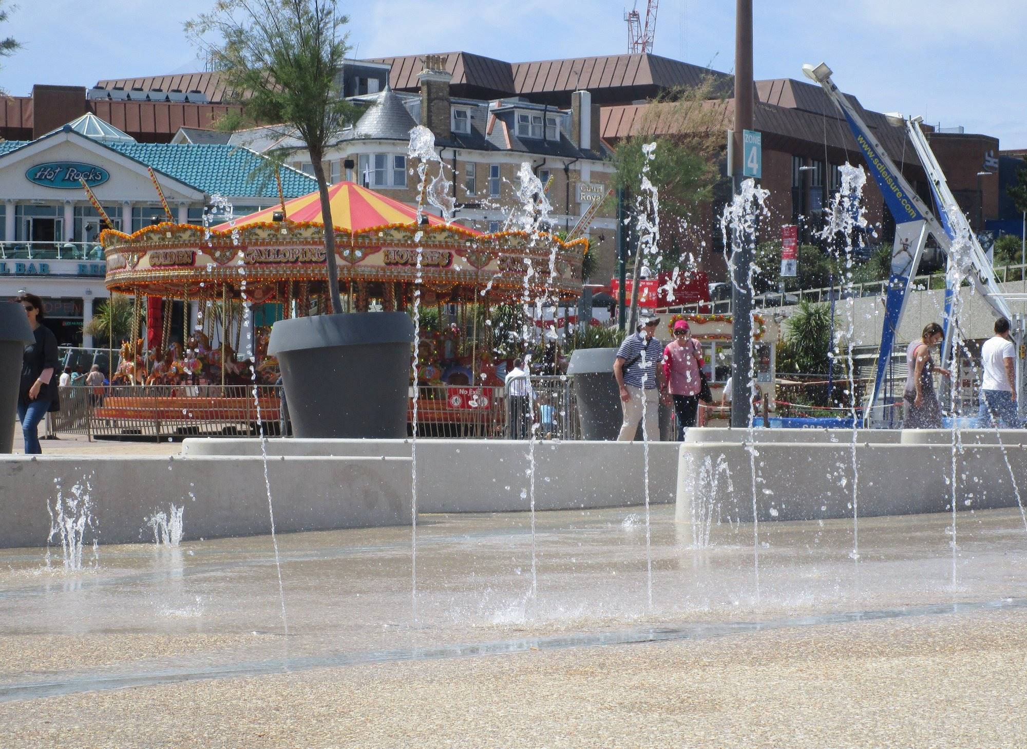 The New Sprinklers At Pier Approach Have Proved Very Popular And With Beach Only A Stones Throw Away Youll Fantastic Day Of Wet Fun