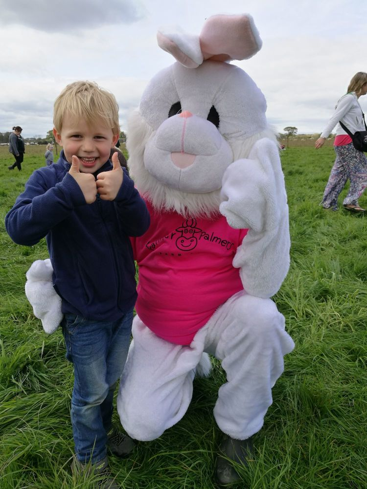 Farmer Palmer egg hunt