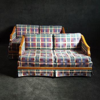 Good pair of Art Deco burr elm sofas