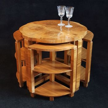 H&L Epstein Art Deco nest of tables