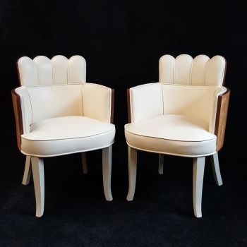 Fine Pair of Salon chairs by H&L Epstein