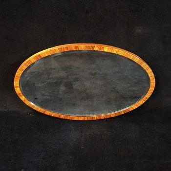 Art Deco kingwood veneered mirror