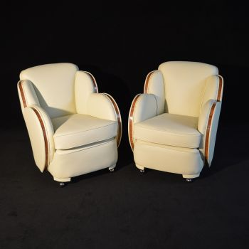 Pair of Art Deco cloud armchairs by Epstein