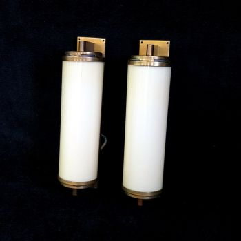 Large pair of Art Deco wall lights
