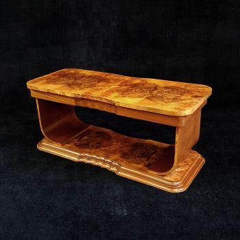 Fine Art Deco walnut coffee table by H&L Epstein