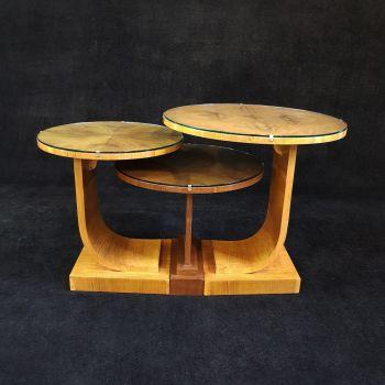 Fine nest of Art Deco tables