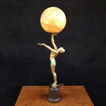 Good Art Deco Molins-Balleste lady lamp