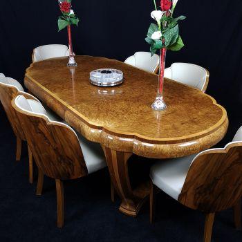 Exceptional Art Deco dining suite