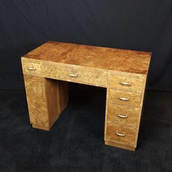 Art Deco burr walnut desk