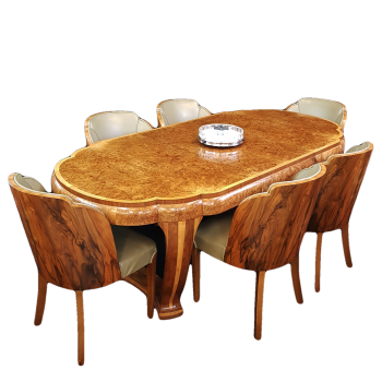 Exceptional Art Deco dining suite