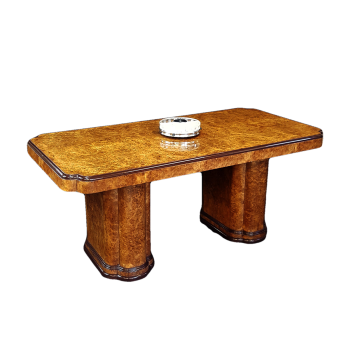 Superb Art Deco burr walnut dining table by Epstein