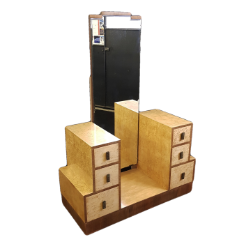 Fine Art Deco burr maple dressing table