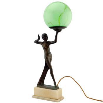 Fine Art Deco lady lamp