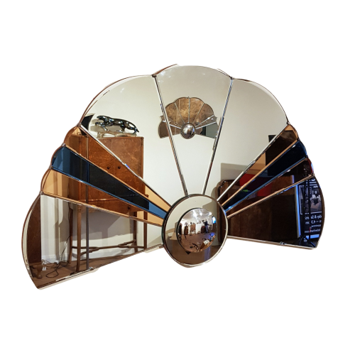 Art Deco cloud shaped mirror