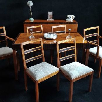 Fine Art Deco Dining Suite