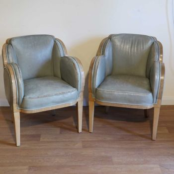 H&L Epstein Art Deco occasional chairs