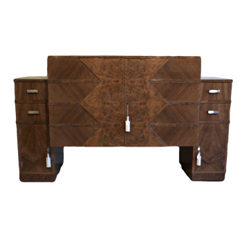 Art Deco walnut sideboard