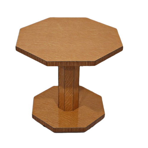 Art Deco tiger oak coffee table