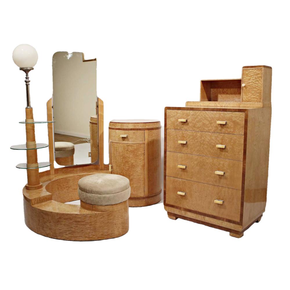 Fine Art Deco Bedroom Set by Bath Cabinet Makers
