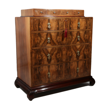 Fine quality antique walnut chest of drawers
