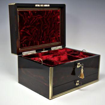 Antique coromandel jewellery box by Wilson & Co.