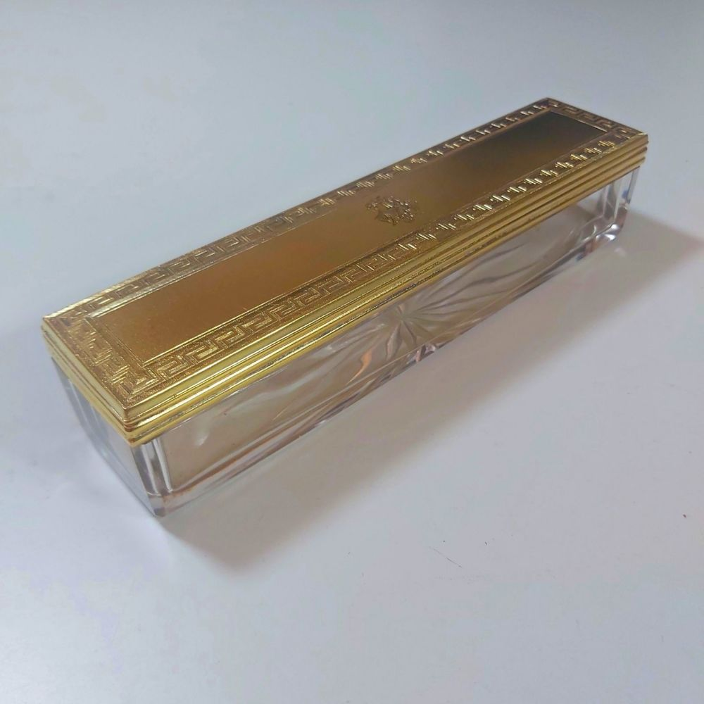 Antique silver gilt dressing box William Neal  London 1868
