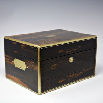 Antique coromandel jewellery box
