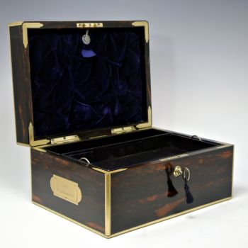 Antique coromandel jewellery box