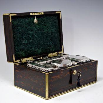 Antique coromandel dressing box.