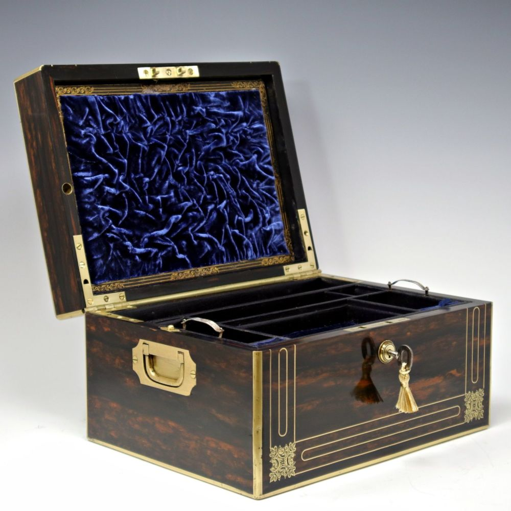 Antique coromandel jewellery box.