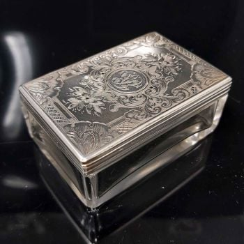 Antique sterling silver dressing table box.