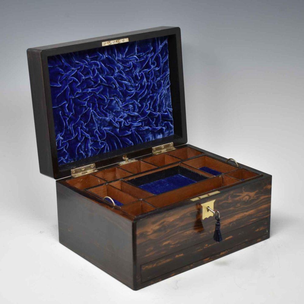 Antique coromandel jewellery box.