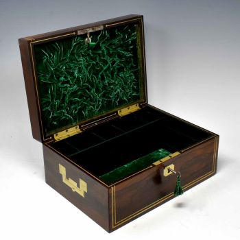 Antique rosewood jewellery box by Edwards.