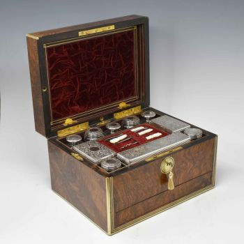Antique dressing / jewellery box by Parkins & Gotto