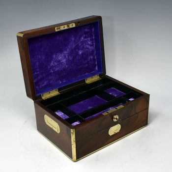 Antique rosewood jewellery box.