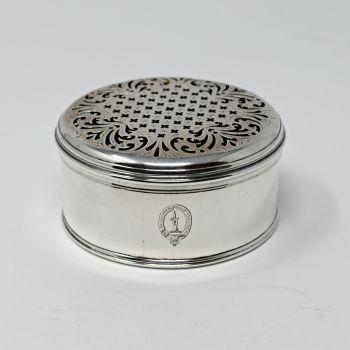 Fine Georgian sterling silver table box.