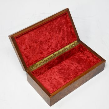 Art Deco amboyna jewellery box.