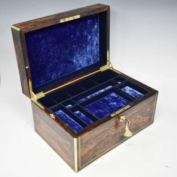 Fine antique coromandel jewellery box.