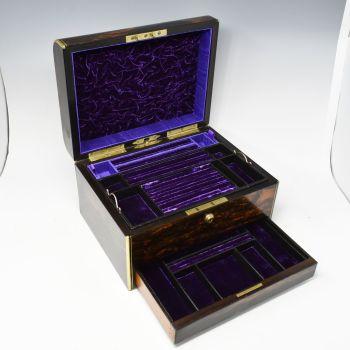 Fine coromandel jewellery box by BB Wells, Strand.