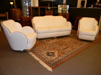Epstein Art Deco 'Cloud' 3 piece suite