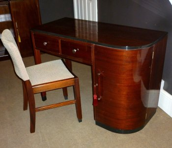 Bowman Brothers Art Deco Desk & Matching Chair