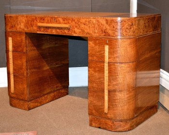 Art Deco Walnut Desk