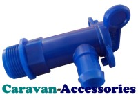 DTB Blue 25mm Drain Tap For Fresh Water