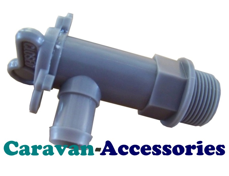 DTG Grey 25mm Drain Tap For Waste Water