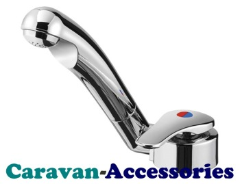 DLT575C Reich Keramik Twist Microswitched Single Lever Mixer Hot & Cold Tap (12mm Barbed Tails)