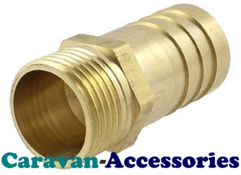 """BRM5012 Brass Threaded to Barbed Straight Water Fitting (1/2"""" BSP Male to 1/2"""" (12mm) Barb)"""